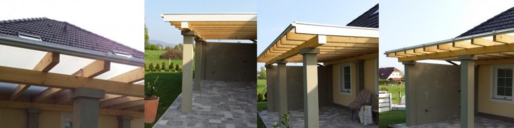 Moderna lesena nadstrešnica