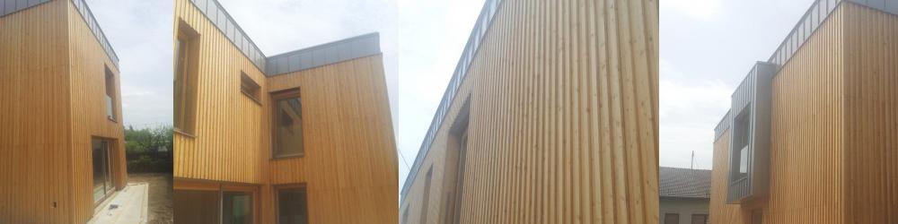 lesena fasada z dvojnim prekrivanjem