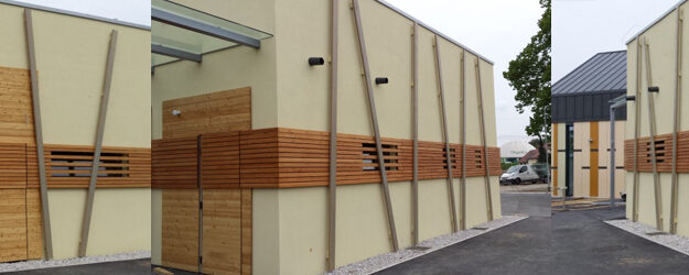 Zakaj lesena fasada s točkovnim sidranjem
