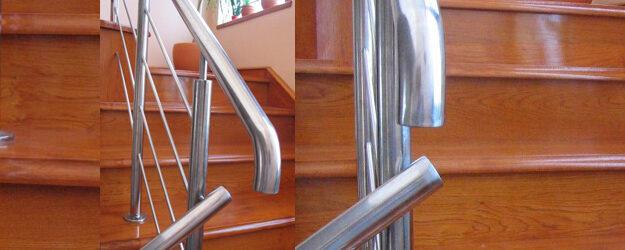Lesene hrastove stopnice – lužene