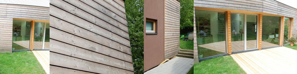 lesena fasada skozi čas