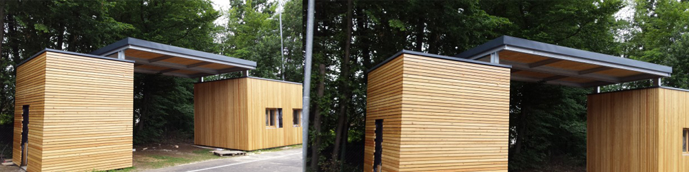 panelna lesena fasada