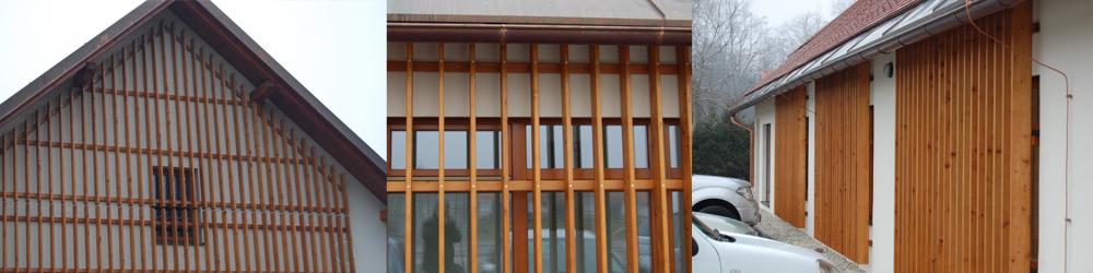 Lesena fasada na šoli Strnišče