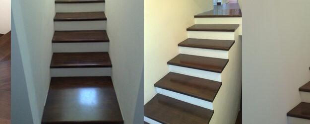 Lepljene hrastove stopnice lužene na Venge