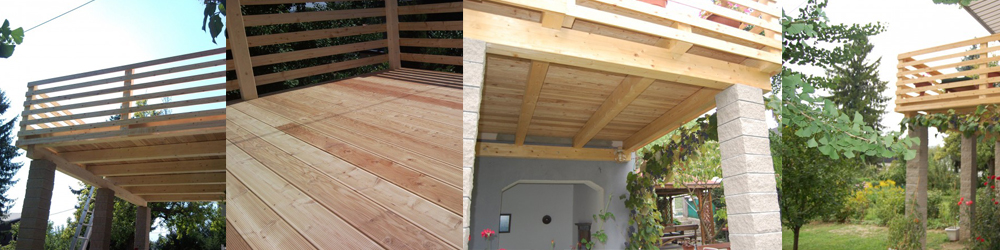 lesena nadstrešnica leseni balkon