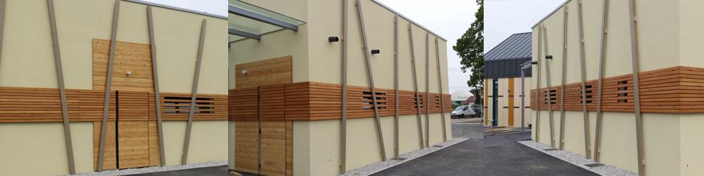 lesena fasada s točkovnim sidranjem