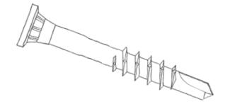 Namenski RF vijaki za kovino profila