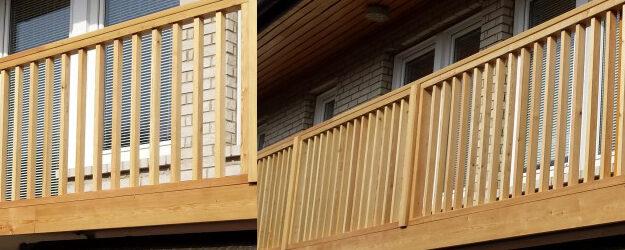 Panelna lesena ograja iz sibirskega macesna