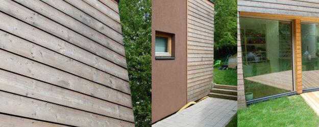 Lesena fasada po 3,5 letih