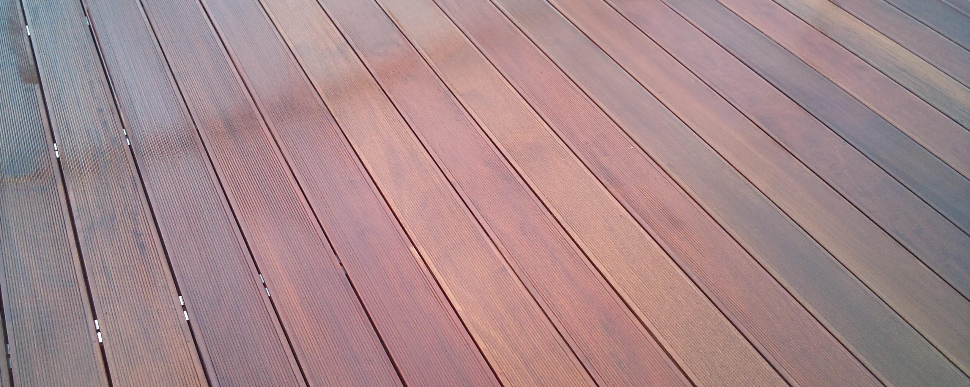Lesena terasa iz tropskega lesa ipe